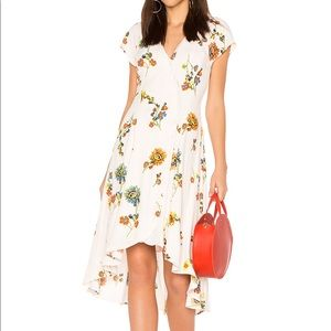 Free People Ivory Floral High Low Dress Size S